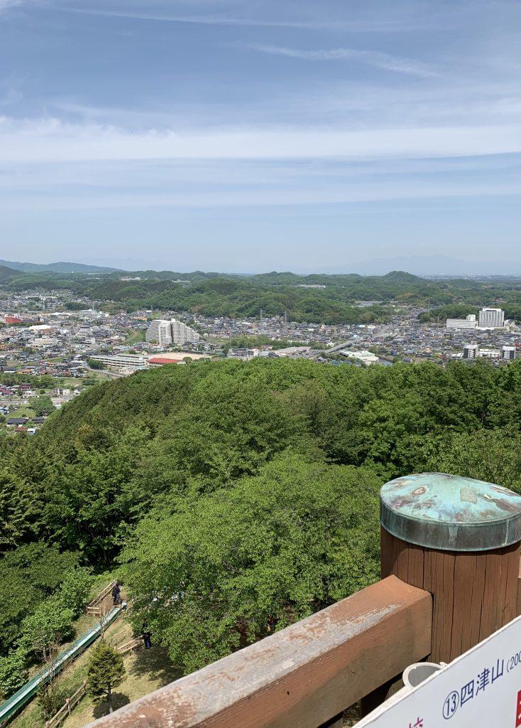 埼玉県 小川町 公園 展望台 景色