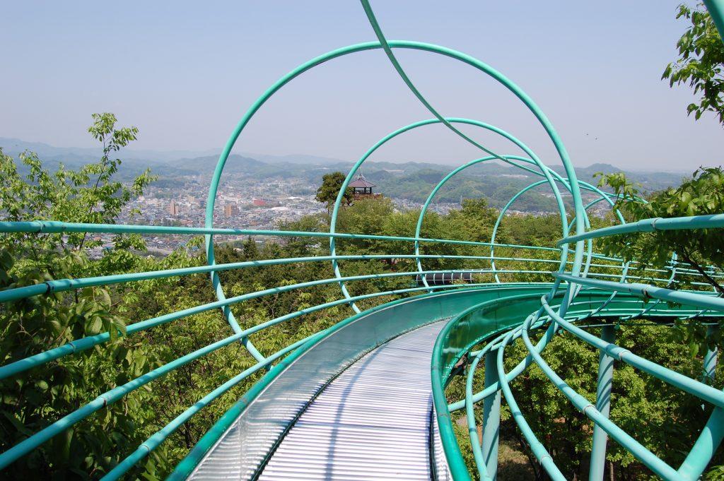 埼玉県小川町公園ローラーすべり台