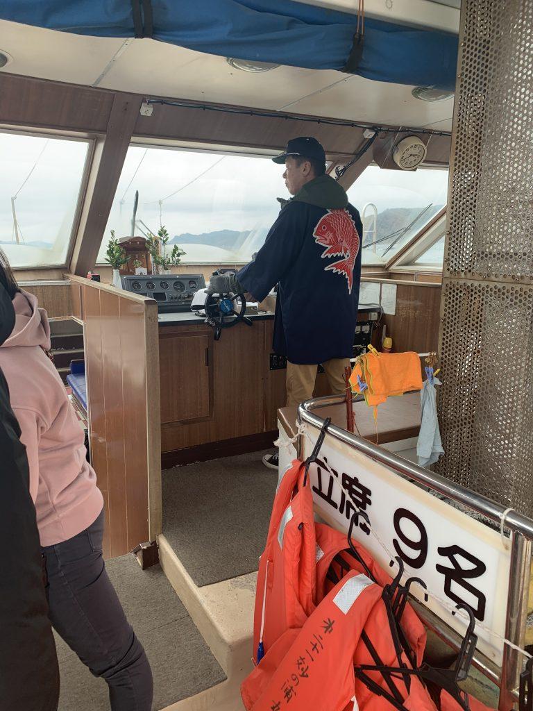 鯛の浦遊覧船 船内様子